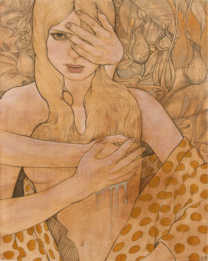 Iris--laquer-and-graphite-on-wood-web