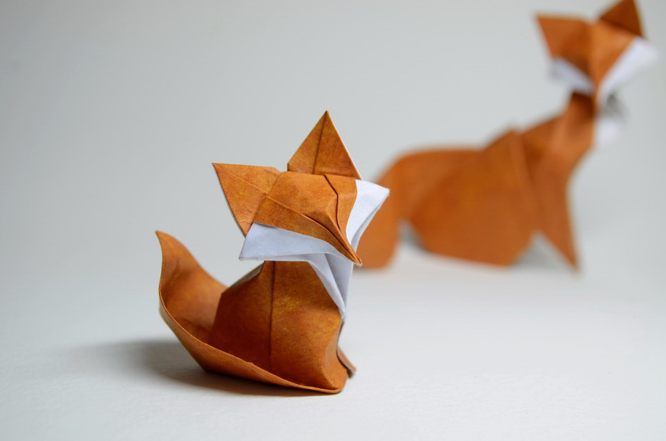 How to Make an Origami Fox : Simple & Fun Origami - YouTube | 636x960