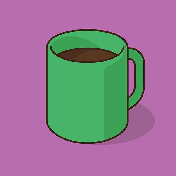 Set Cups Graphic Design Fun