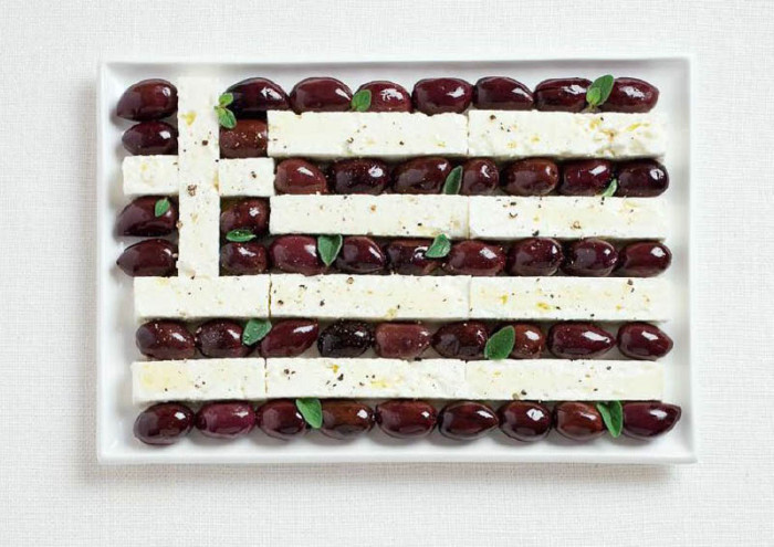 greece-flag-made-from-food