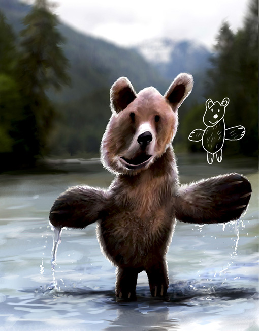 GrizzlyBeerKiddieArtSeries