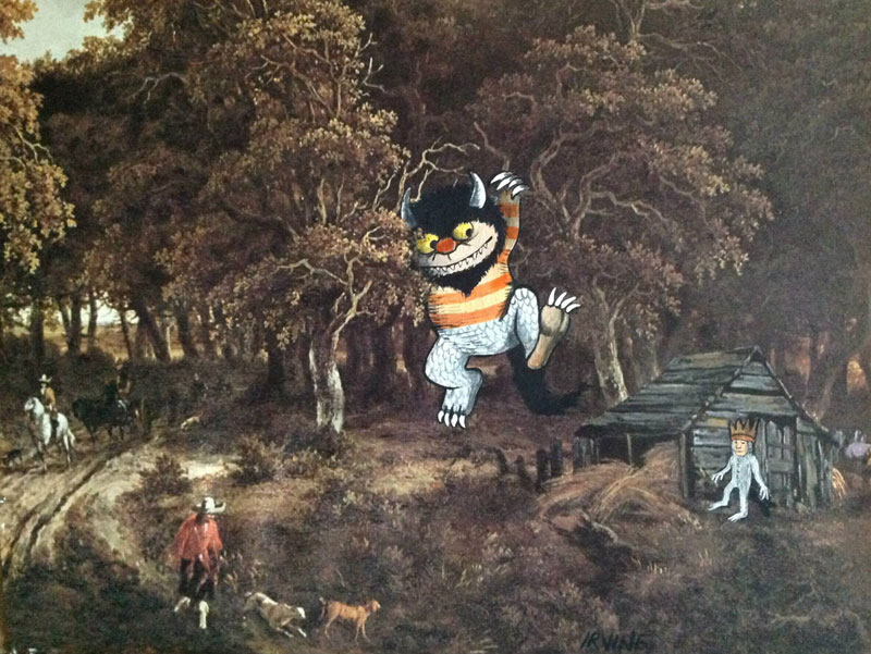 adding-characters-to-thrift-store-paintings-by-david-irvine-gnarled-branch-34